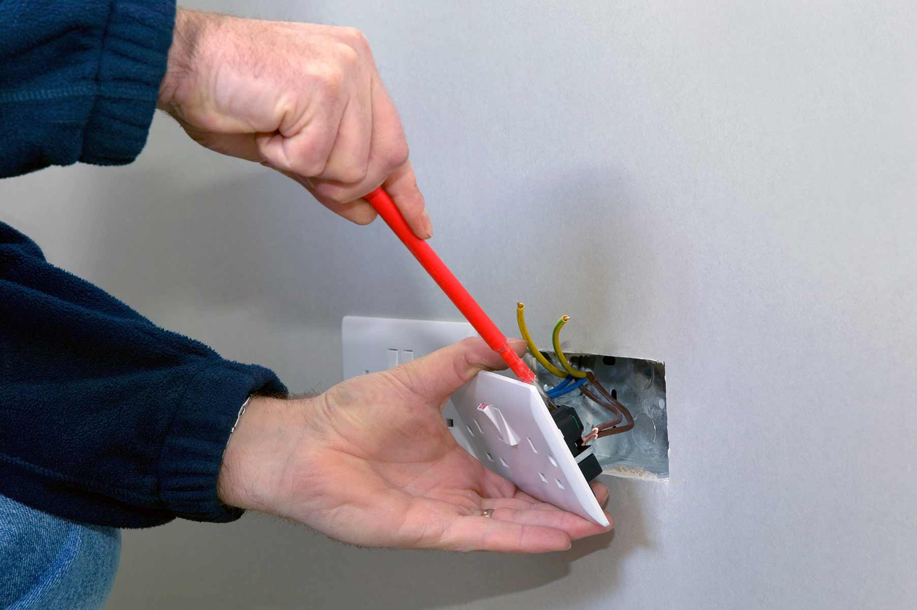 Our electricians can install plug sockets for domestic and commercial proeprties in Holland Park and the local area.